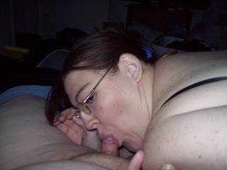 Wife giving husband a blowjob, would love to watch my wife sucking off another man. Anyone up for that?
