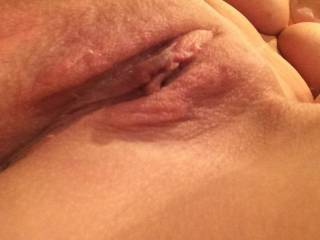 Mmmmmmm your sweet, wet, bald pussy looks absolutely delicious!!  I would love to have my face right there as you squat down on me so I can see your face and amazing tits as I am licking and eating your pussy!!
