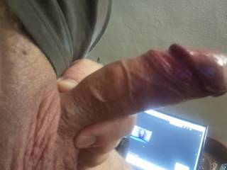 my big hard veiny cock while watching Zoig!