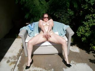 wife nude outside