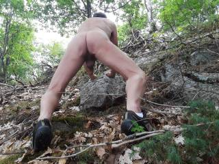 Hiking naked is fun, even when the trail is steep. If you were here, I am sure that we would have a good time,  in the end. What do you think?