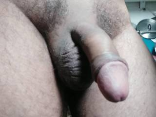 "This is my 9"" Cock it looks cool while it's in relaxing mood what you say darling about my cock let me know what you think."
