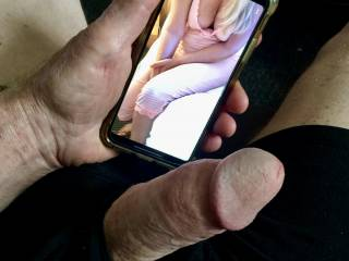 I got a text from a friend showing his wife\'s cleavage.