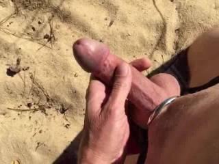 Jerking off outdoors