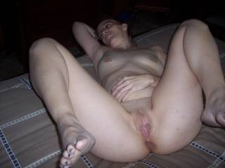 I want to lick your pussy and tongue your ass.  And suck your toes.  And breasts and nipples. And kiss your hot, sexy mouth.