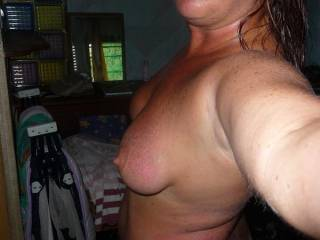Damn looks like you got some sunburn!!! Need some aloe rubbed on it along with some hard cock?