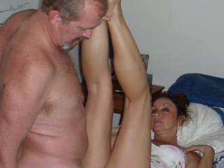 Candi Annie puts her legs together as Al fucks her soaking wet pussy... can you imagine what that must feel like?