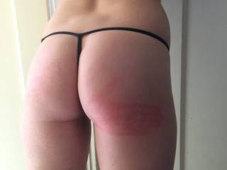 Me after getting a nice spanking, I was a bad little girl and got what I needed.