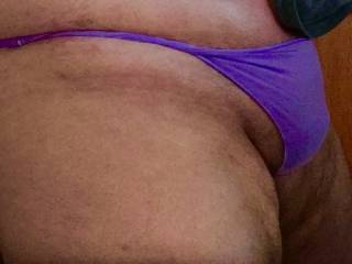 My two fave things...sexy thong girlie panties and purple;)