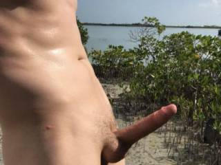 Walking around naked in the Keys.. Love the feeling of sun on my cock!