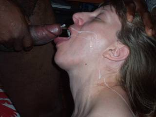 Just loves the taste of cum