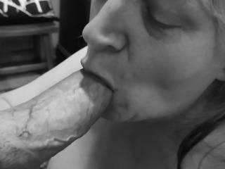 """Femme Sexuelle - Noir et Blanc Classique: """"Cock Sucking Woman"""""""