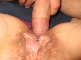 ohh yes love to slide hubbys cock slowly inthat sweet pussy as we?