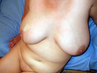 can i cover the other tit in cum