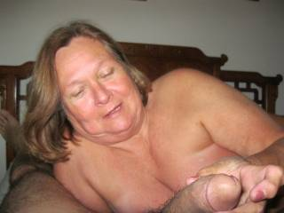 SHE LOVES PLAYING WITH MY COCK!