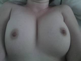 I'm for sure not the the first to cum on you wonderful tits -but if you want me to shoot a huge load on them - just let me know