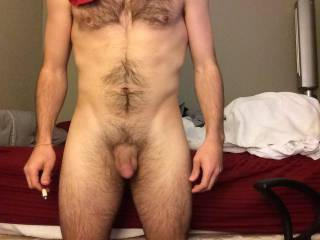 Nice cock...love to take it in my mouth and feel it grow, head pushing into my throat, balls resting on my chin
