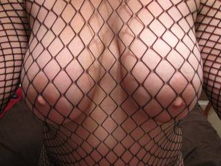 my big boobs in sexy fish net