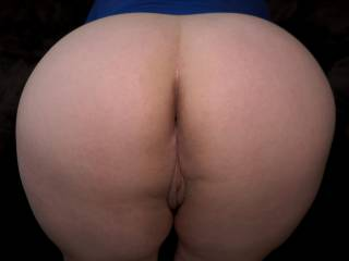 My bum, big and round