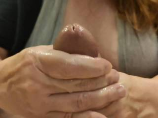 I love milking my man with my hands. Even better when he cums all over my hands. It feels so good when my man\'s wonderful cum flows through my fingers and makes them so nice and sticky with his love.