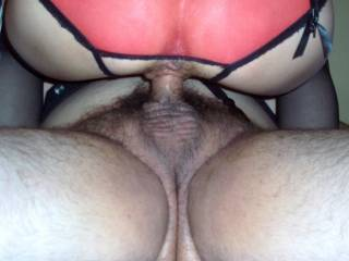 I would love to see you in this position with your cock pumping her sweet puckered asshole.