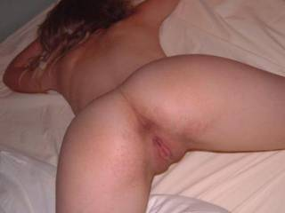 Before a very good hot and naughty time i presume?  Wish i was the one who took that pic mmmmmmmmmmmm im sure he gave your pussy a good pounding just after the pic!