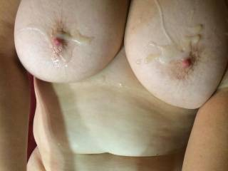 Would anyone else like to cream my big boobs next ?