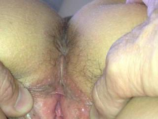 Looks tight. I would like to bury my cock deep in that pussy.