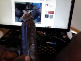 so a friend on zoig wanted me to send a pic of my cock next to her zoig pic,i was so horny i jacked off for cocuple hours and to pics