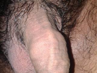 close of my soft dick... lot of foreskin...