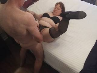 Yes, Baby... Put that beautiful cum right there. My pussy so badly needs that love juice. See our video as Hubby ducks and creams me.