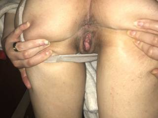 Spreading my cheeks, pound that, any hole!