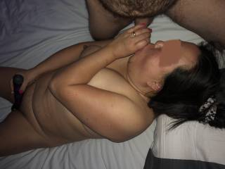 Should have one more cock fucking me while I suck his cock