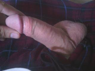 My hard cock.
