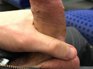 I was alone at the train and browsing on zoig. I had to take out my hard dick to take some pics for you all! Do you like it?
