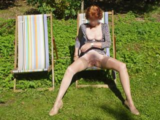 Having fun posing outdoors in the sunshine, exciting? should I stop? or do you have other ideas?