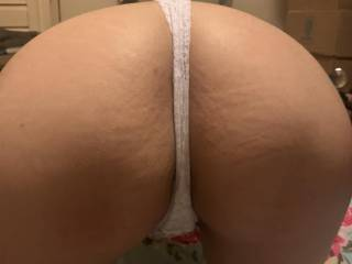 Bent over in a new g-string