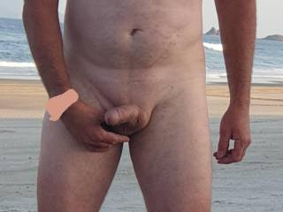 Posing for the camera at the nude beach anyone like to join me for a photo?