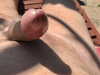 Mmmm my head is push through my foreskin I wonder what else would be nice my cock pushing through