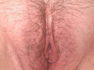 Wife\'s pussy before I fucked it.