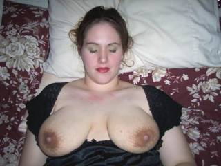 yummy tittys, would definetly explode all over them, might get a little on your chin though, do u mind?