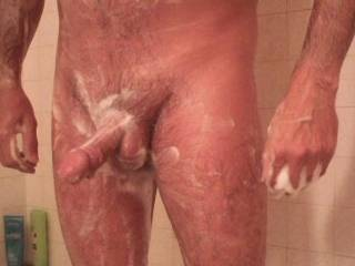 Love to get my hands on your slippery soapy cock......mmmmm!