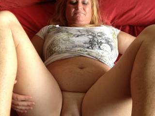 I would love to bury my face and cock between those beautiful thighs