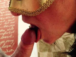 Teasing Mr RT\'s delicious head before swallowing him and sucking him dry!!