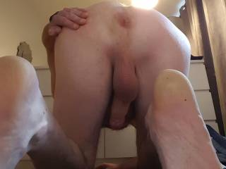Lick my shaven stretched ass