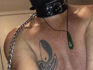 Serving my Boss in a hood, ball gag and blindfold I was ordered to tweak Bosses nipples in between loads of cum in my mouth which was 6 loads of cum that dsy