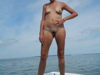 Out for a nude boat ride