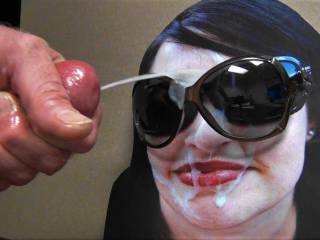 Jacking my hard cock and shooting my hot thick cumload all over my GF\'s sunglasses request!