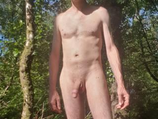 Naked up woods.
