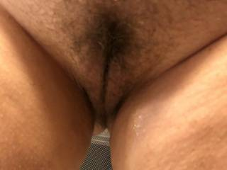 Showing me its time to trim her mature pussy.